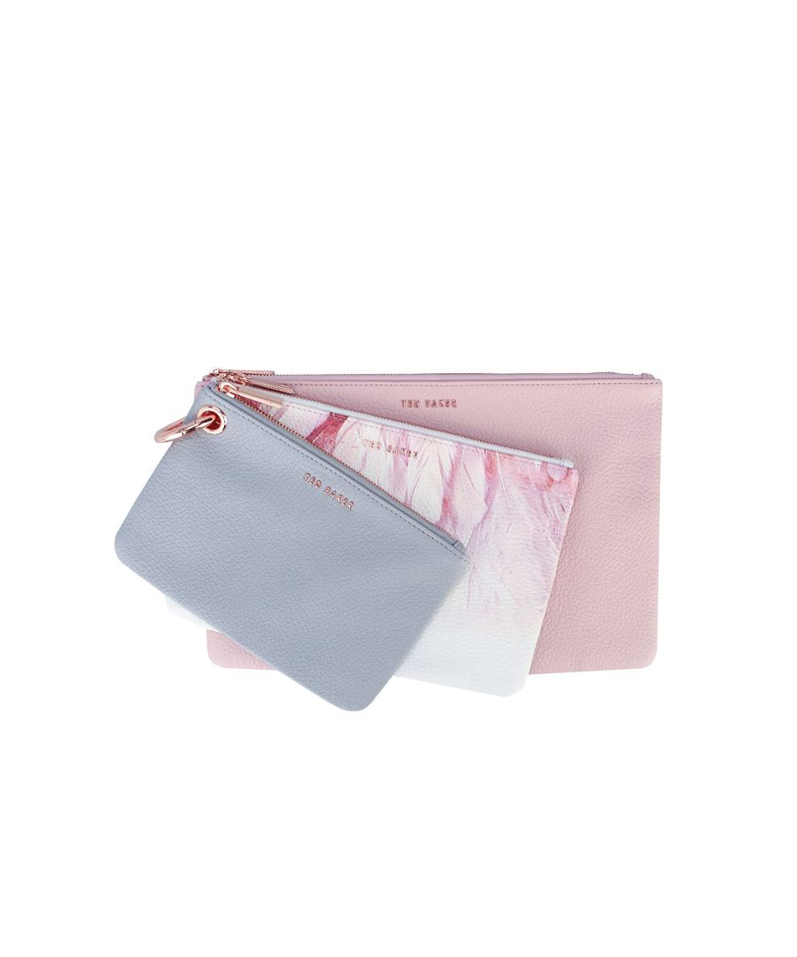 Image for Accessories Ted Baker Halion Angel Triple Pouch Set in White
