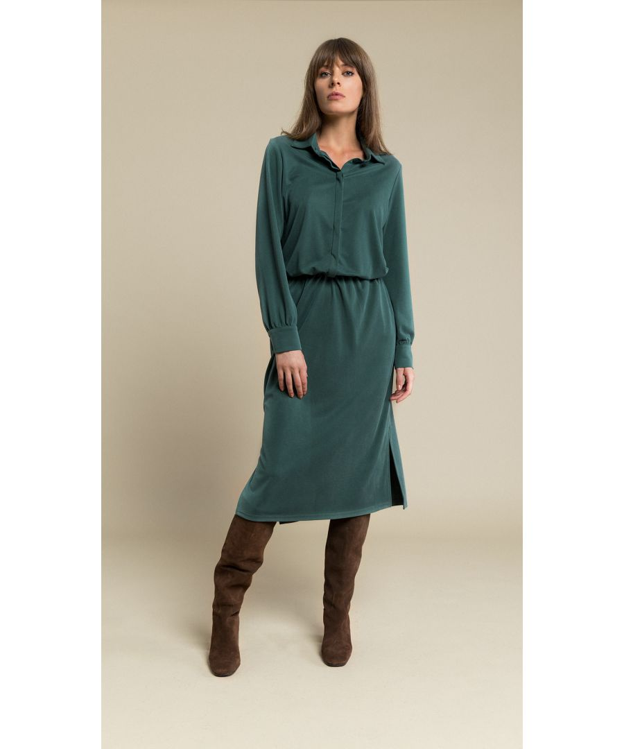 Image for Linda Bottle Green Dress