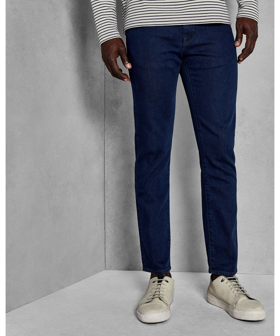 Image for Ted Baker Sary Straight Fit Mid Wash Denim Jeans, Mid Wash