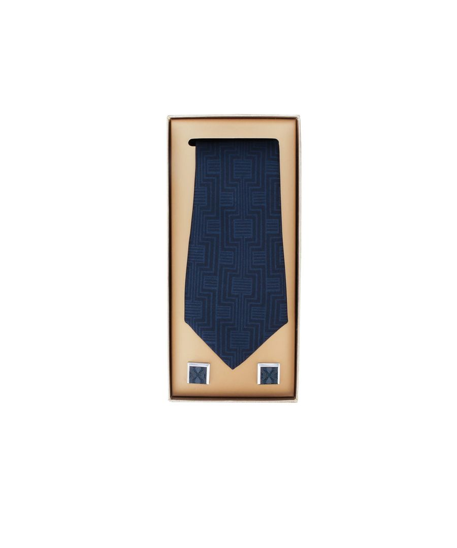 Image for Accessories Ted Baker Trippy Cufflink And Tie Gift Set in Navy