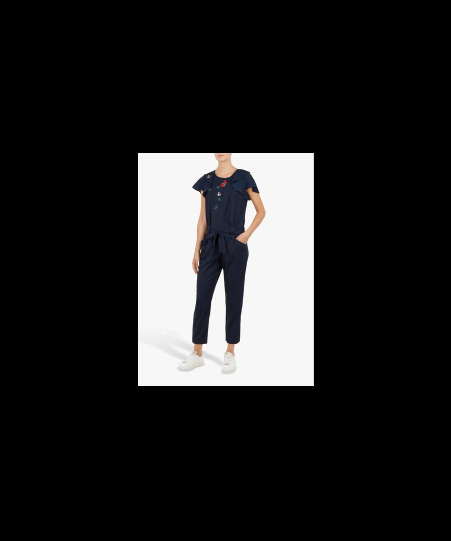 Image for Ted Baker Tahrah Narrnia Draped Sleeve Jumpsuit, Navy
