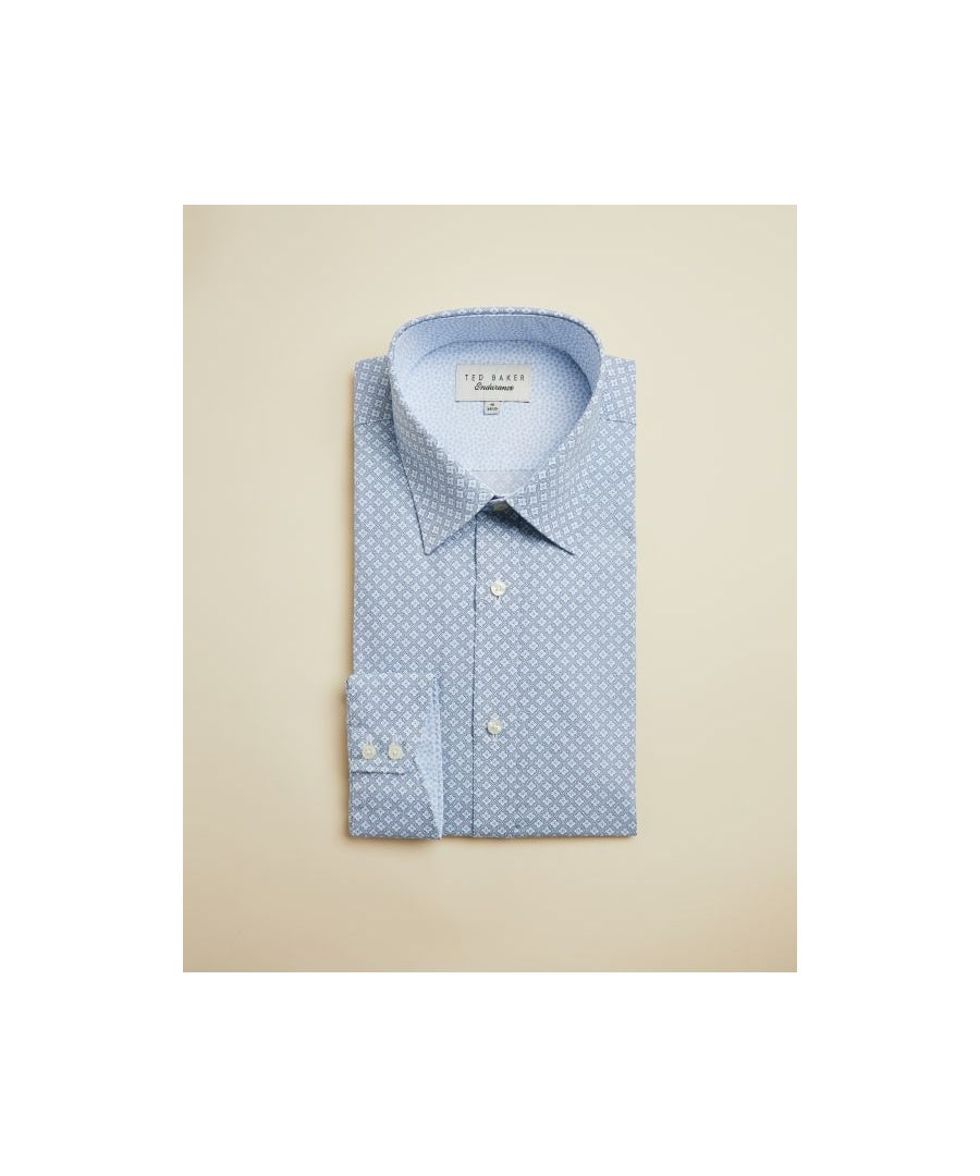 Image for Ted Baker Goldsh Geo Two Tone Endurance Shirt, Blue