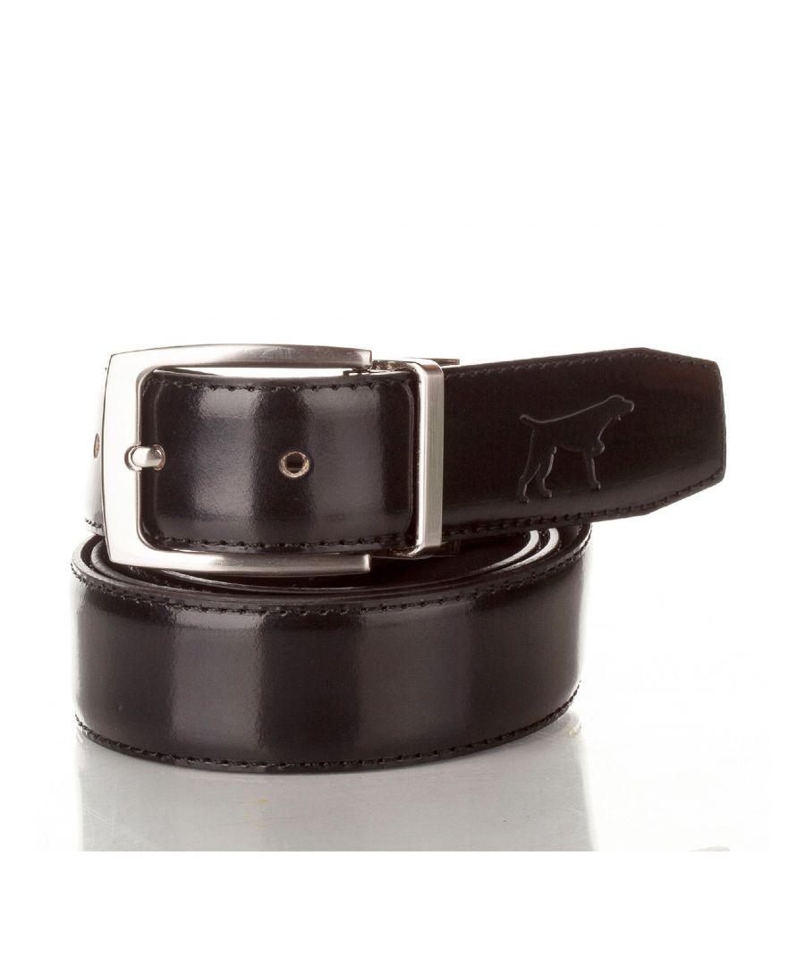 Image for Men's Leather Adjustable Belt in Black