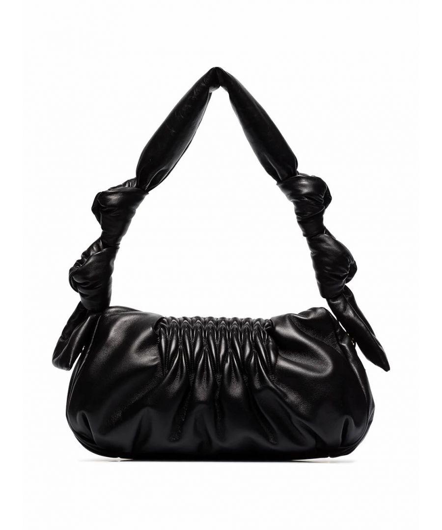 Image for MIU MIU WOMEN'S 5BF0972C9PF0002 BLACK LEATHER SHOULDER BAG