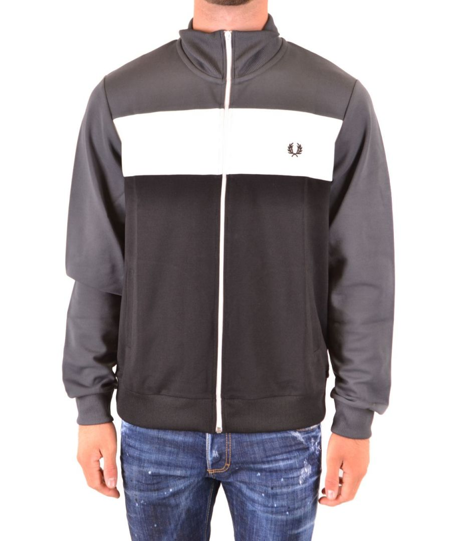 Image for FRED PERRY MEN'S FPJ650130834 GREY POLYESTER SWEATSHIRT