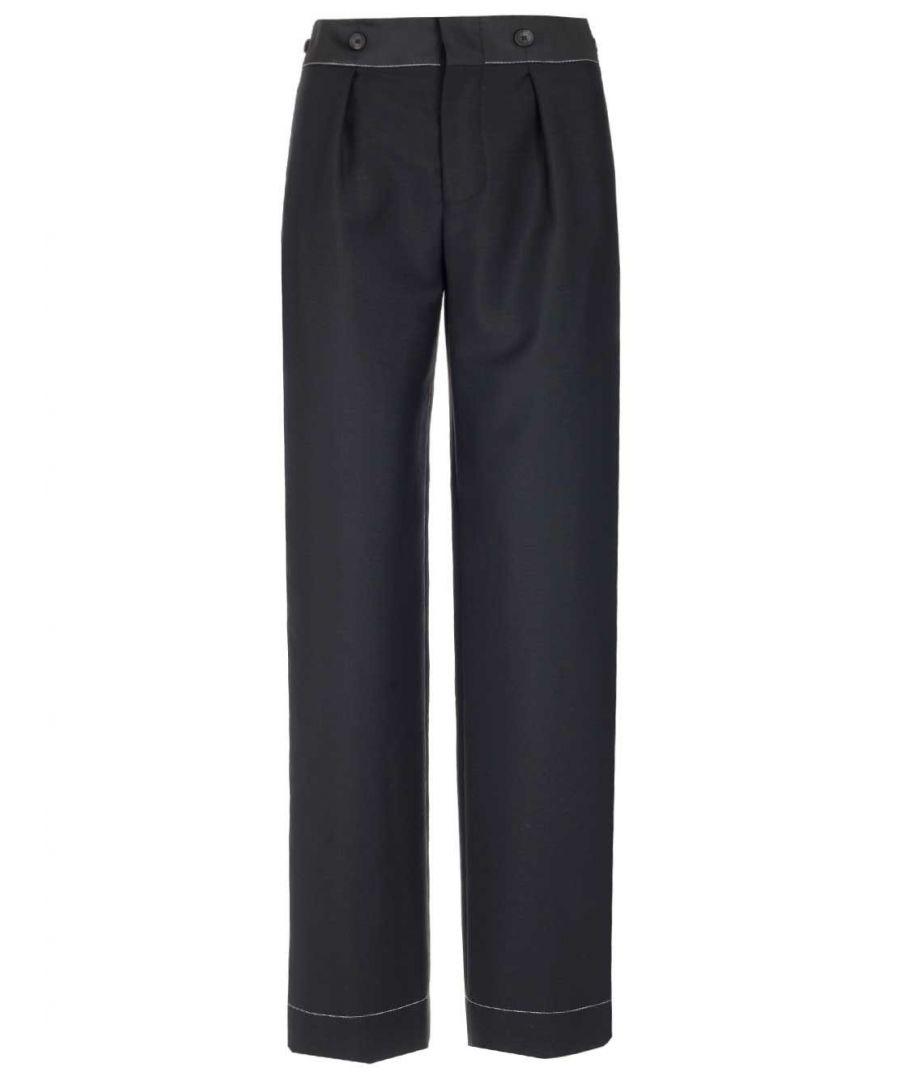 Image for LANVIN WOMEN'S RWTR510S4197H1910 BLACK WOOL PANTS
