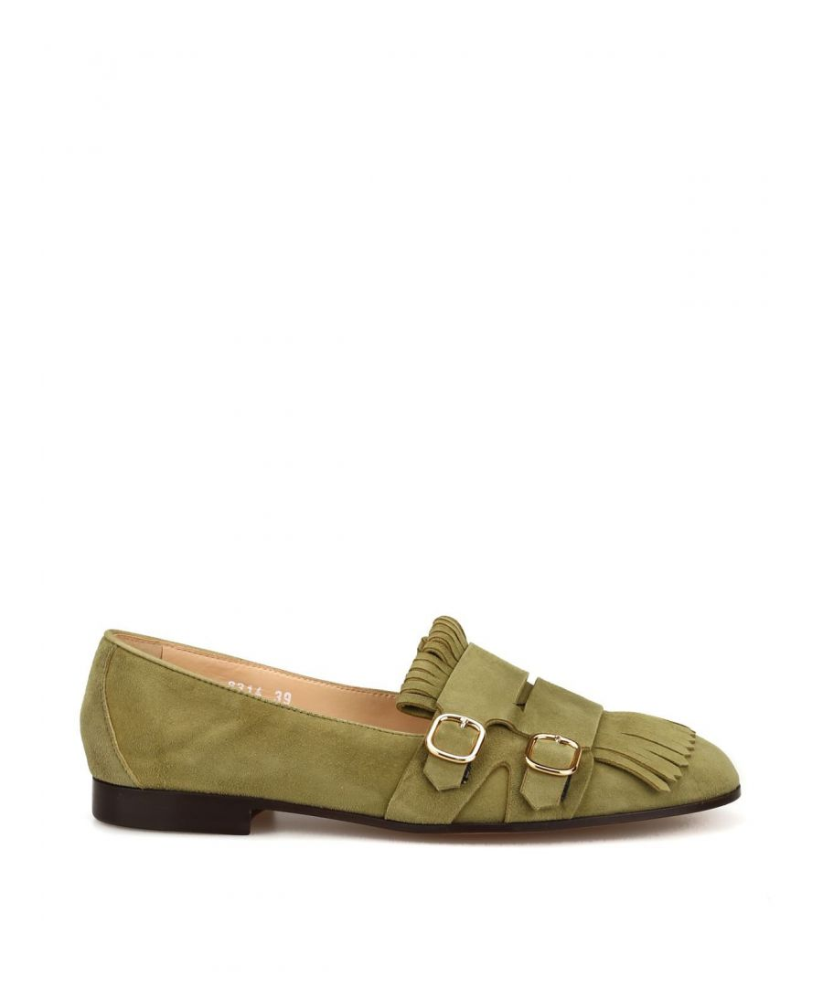 Image for DOUCAL'S WOMEN'S 8314MEGANF064TV17 GREEN SUEDE LOAFERS