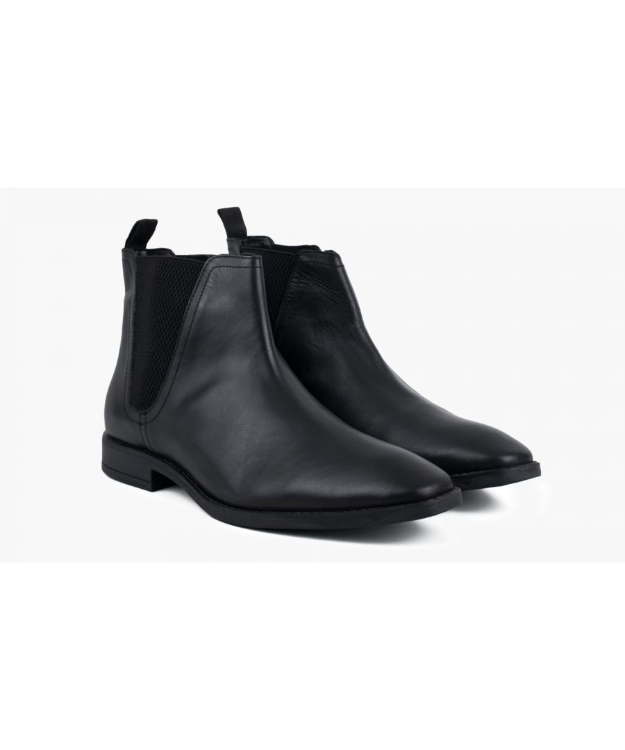 Image for Redfoot Rawlings Black Leather Chelsea Boot
