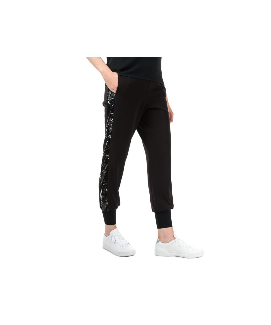 Image for Women's Ted Baker Shawnaa Sequin Jog Pants in Black