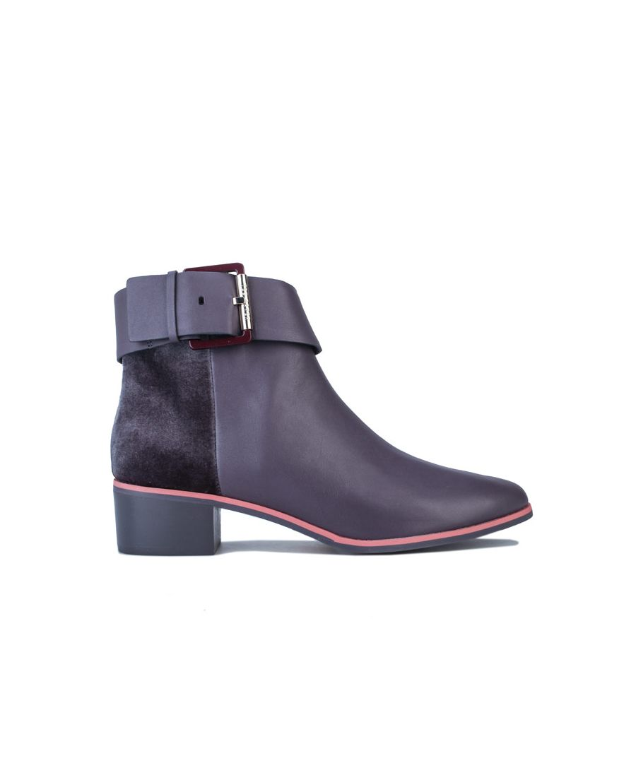 Image for Women's Ted Baker Alezqa Leather Ankle Boots in Grey