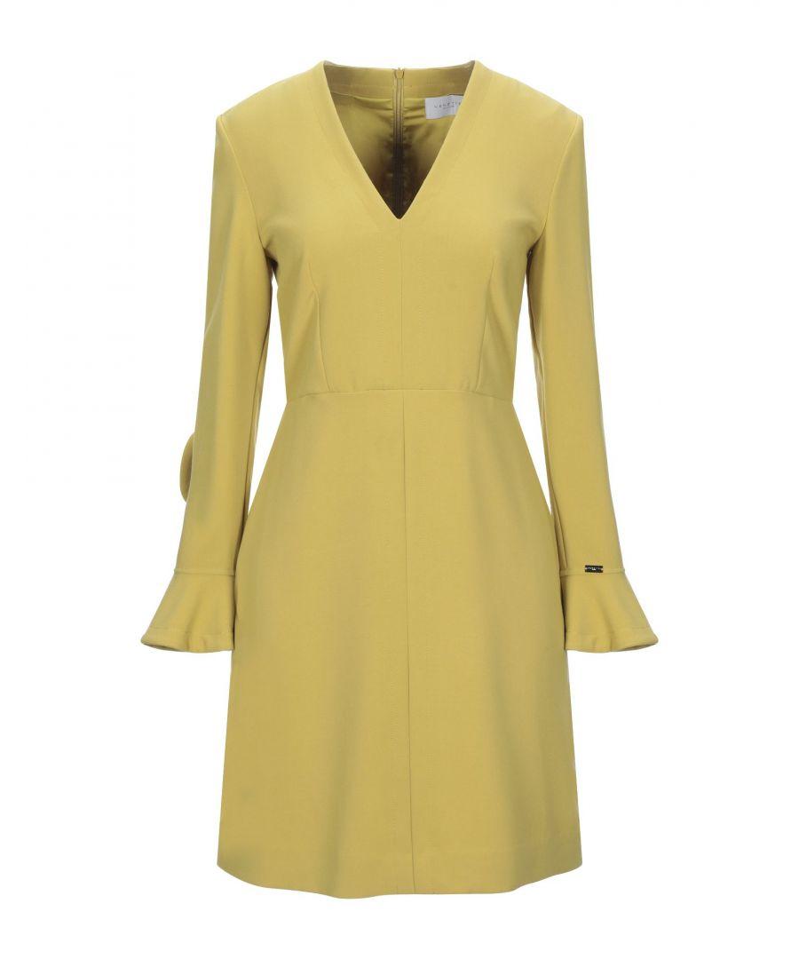 Image for Nenette Ochre Ruffle Long Sleeve Dress