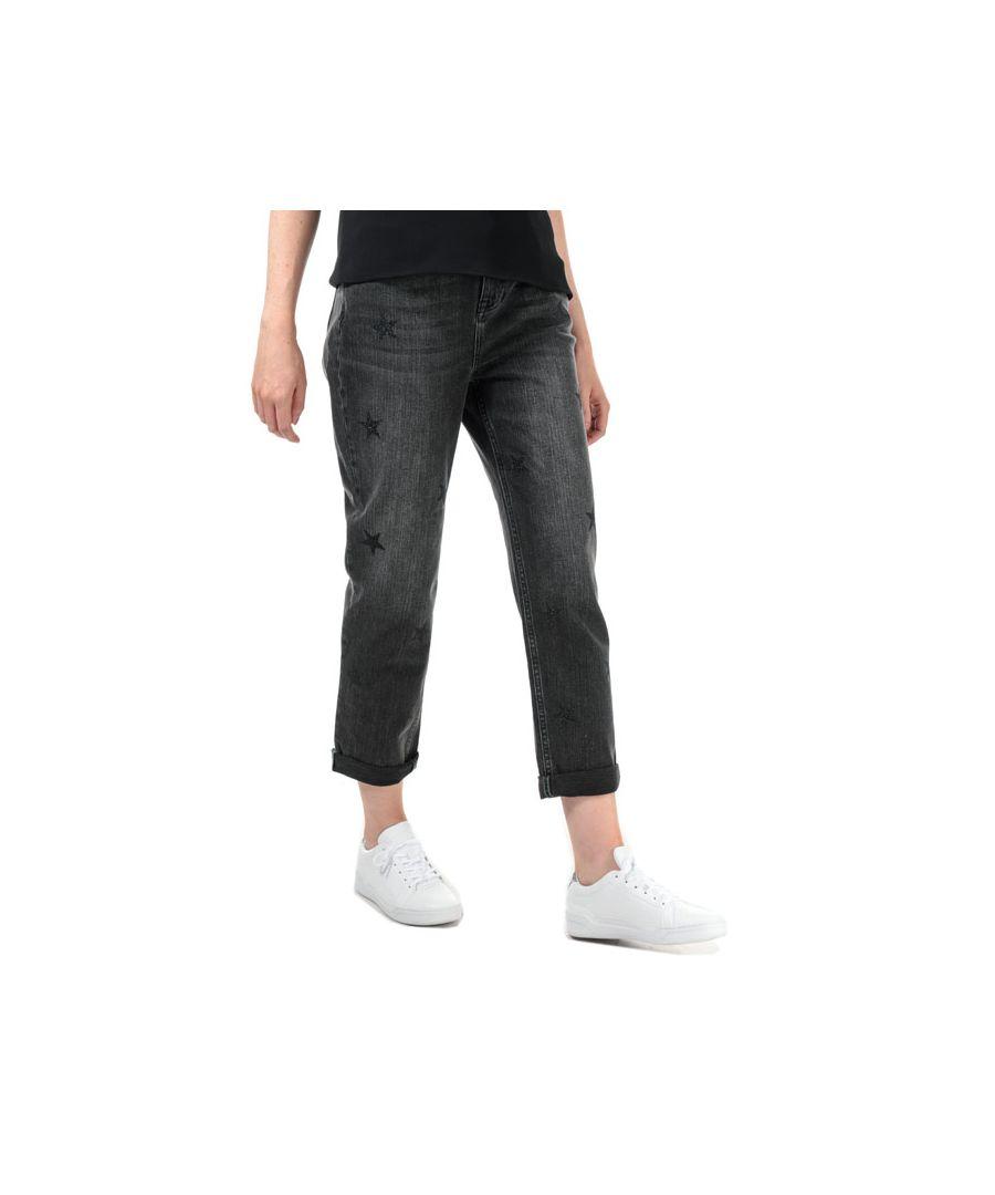 Image for Women's Ted Baker Rilee All Over Star Embellished Jeans in Black