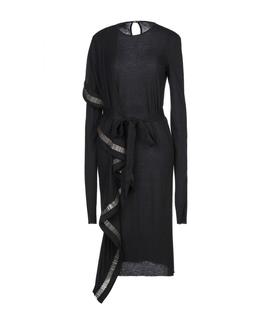 Image for Rick Owens Lilies Black Knit Long Sleeve Dress