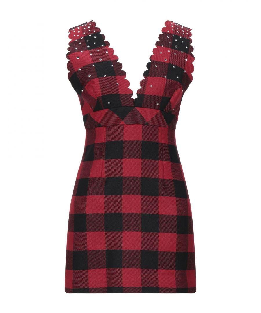 Image for Pinko Red Print Wool Short Dress