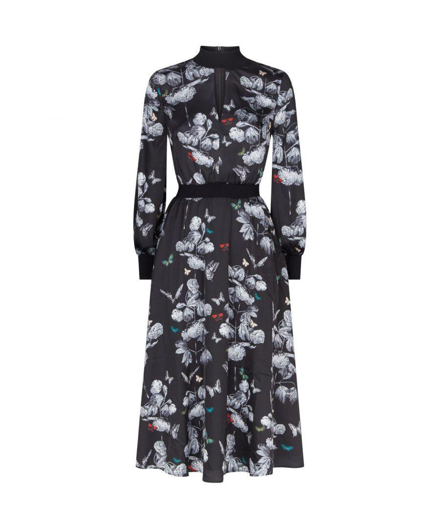 Image for Ted Baker Eynah Narnia Midi Length Dress, Black