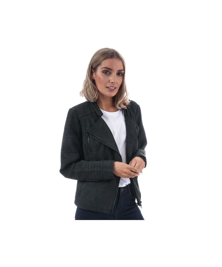 Image for Women's Only Ava Faux Leather Jacket in Black