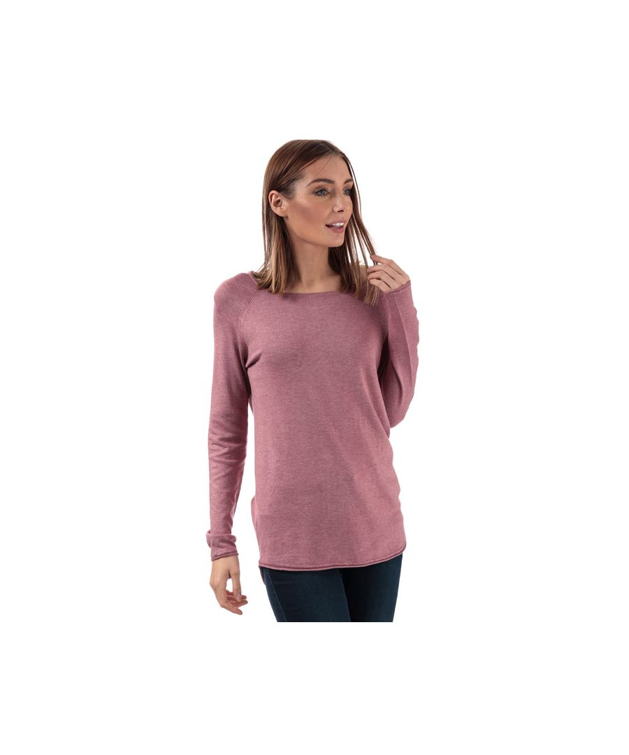 Image for Women's Only Mila Lacy Longline Jumper in Rose
