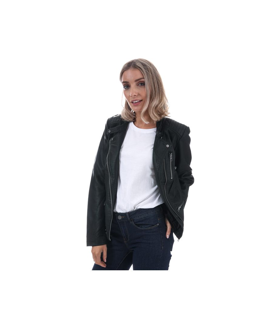 Image for Women's Only Freya Faux Leather Jacket in Black