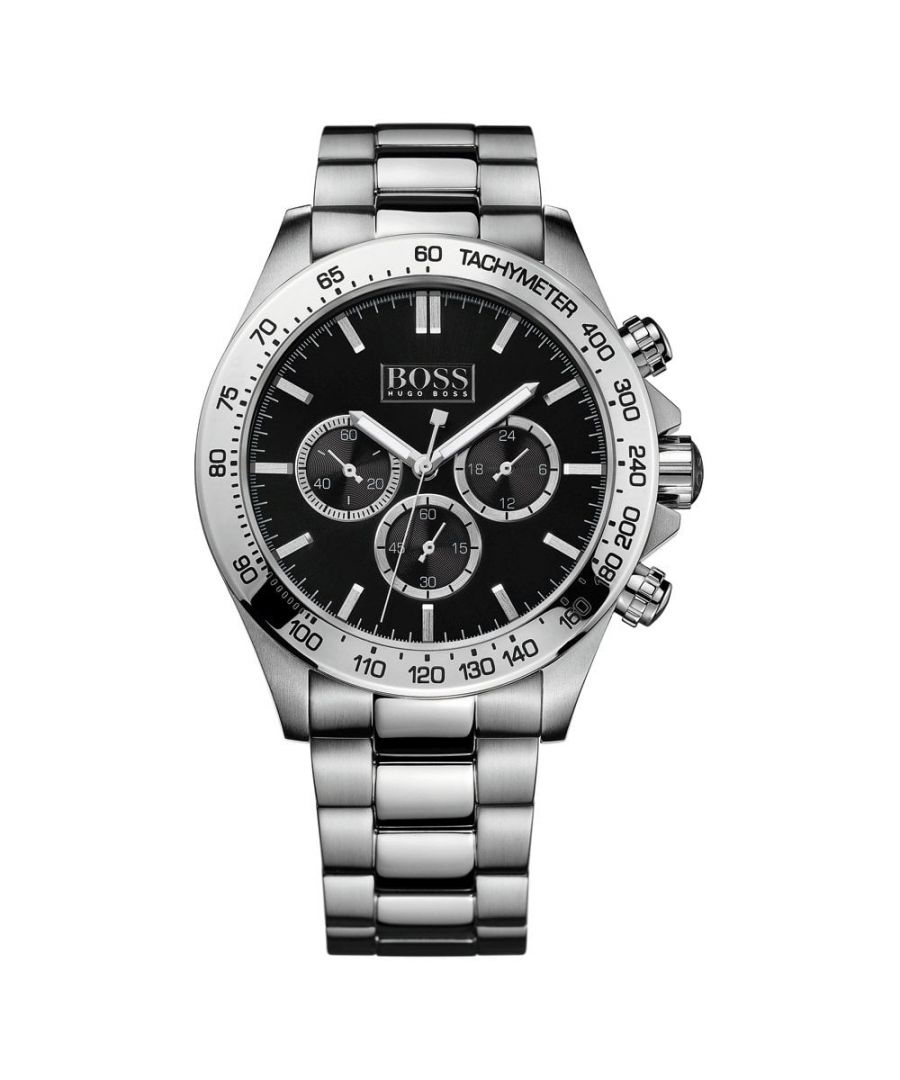 Image for Hugo Boss Mens' Ikon Chronograph Watch 1512965