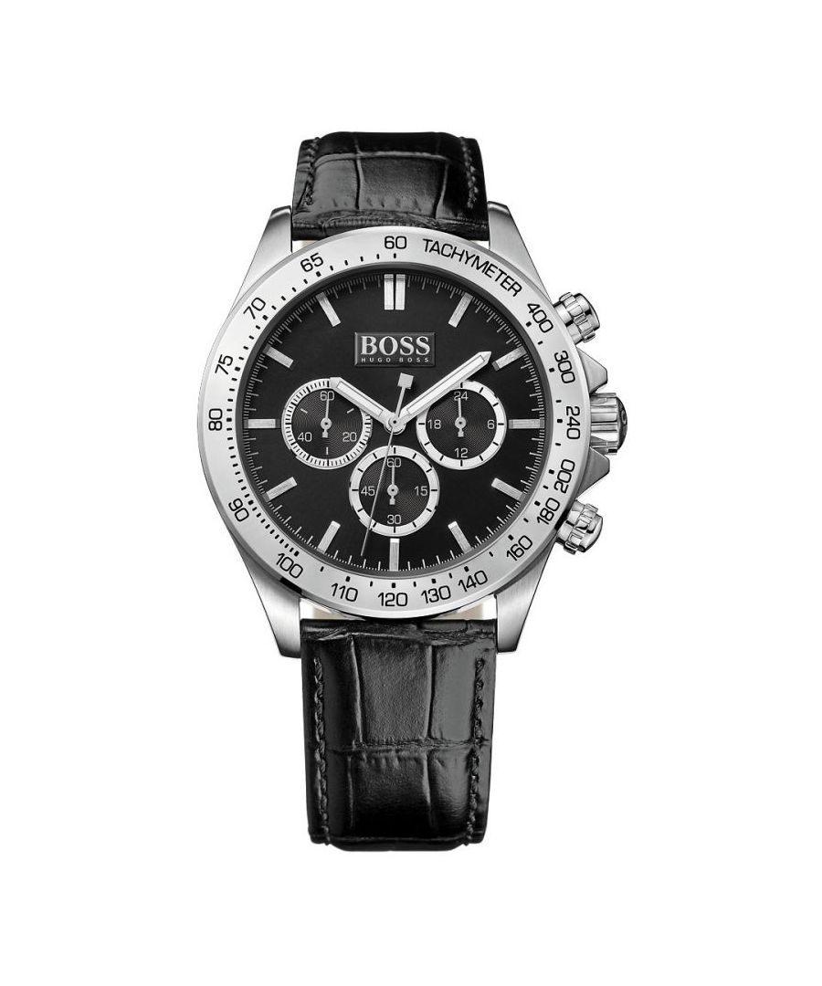 Image for Hugo Boss Mens' Ikon Chronograph Watch 1513178