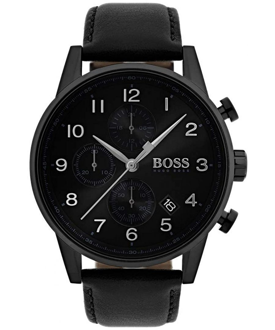 Image for Hugo Boss Navigator Classic Leather Watch