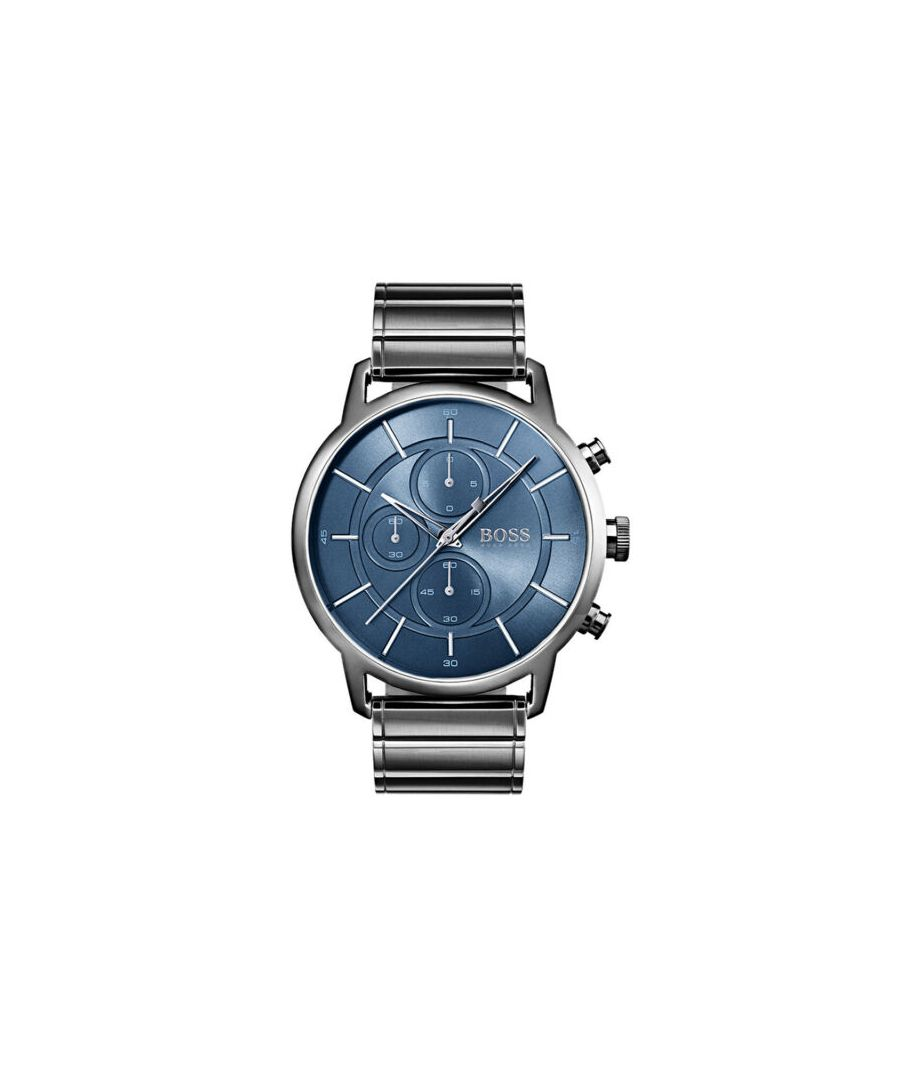 Image for Hugo Boss Blue Dial Metal Men's Watch