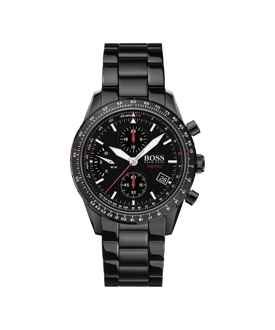 Image for Hugo Boss Mens' Hero Chronograph Watch 1513771