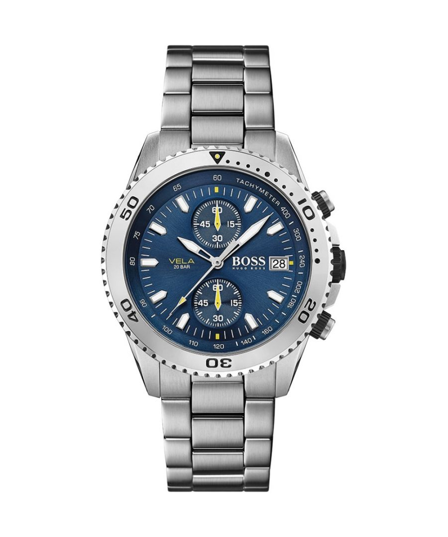 Image for Hugo Boss Mens' Vela Chronograph Watch 1513775