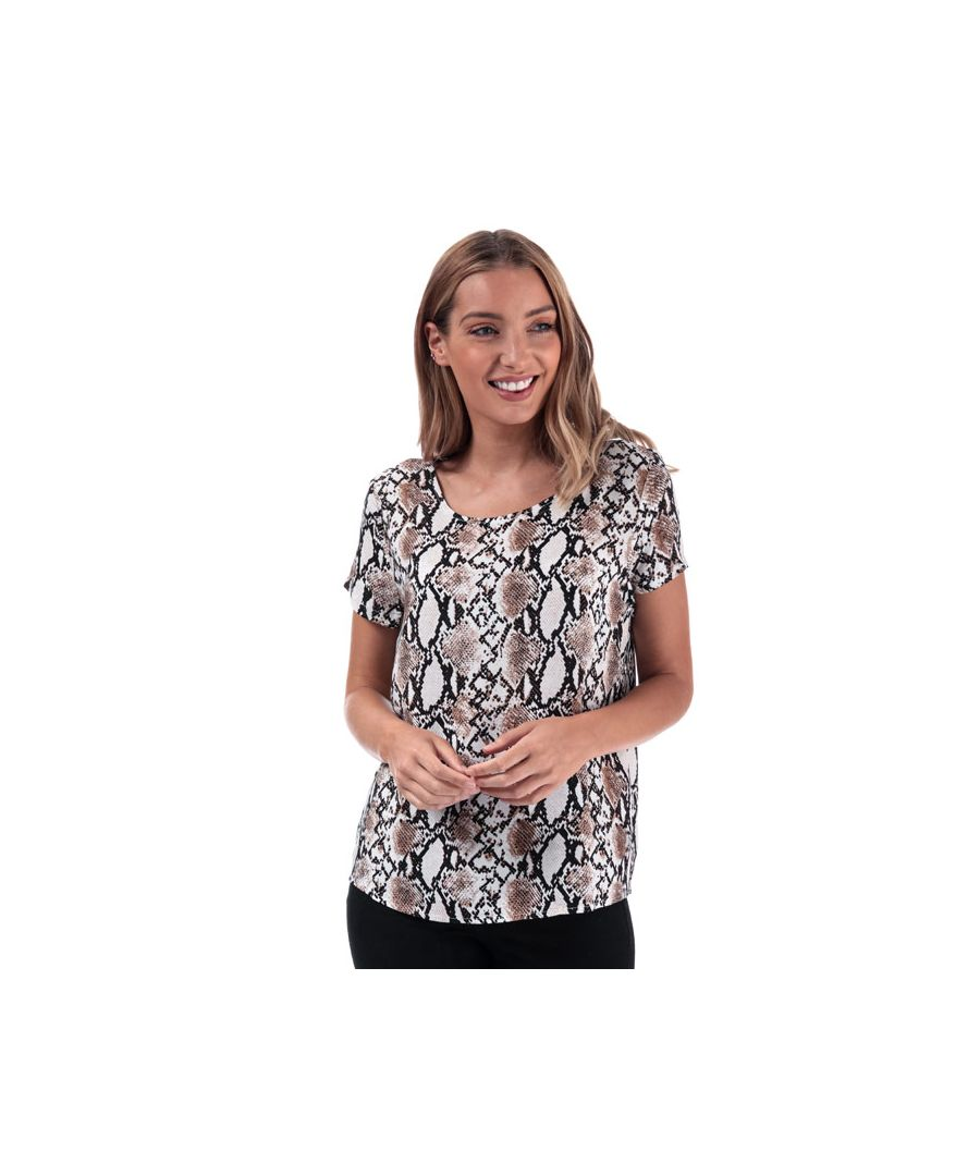Image for Women's Only First Snake Print Top in Stone