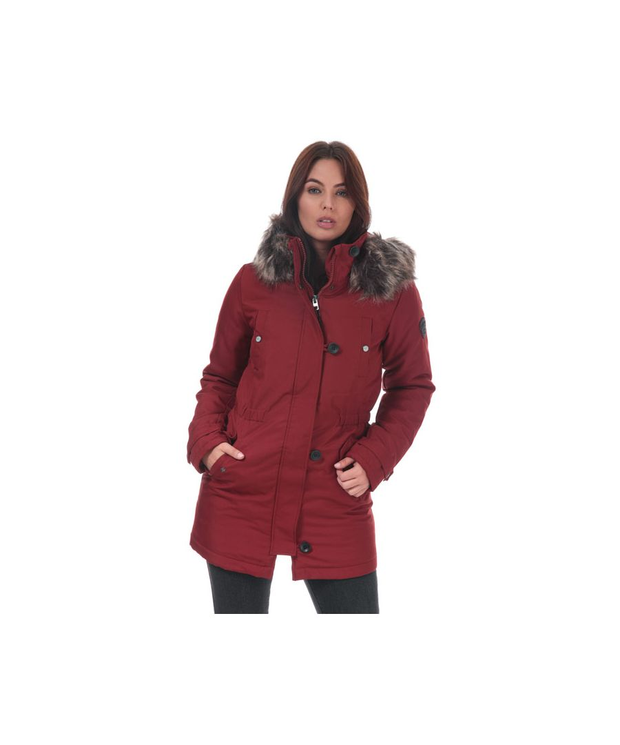 Image for Women's Only Iris Parka Jacket in wine