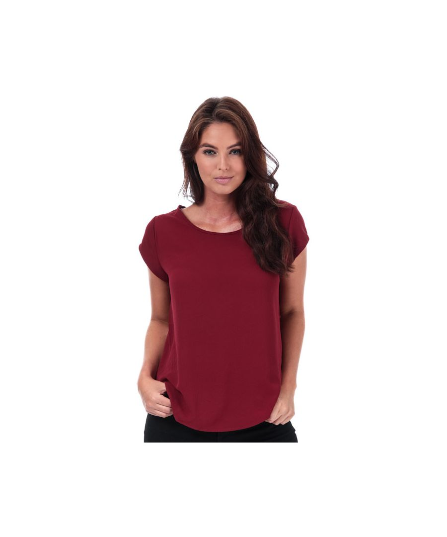 Image for Women's Only Vic Short Sleeve Top in wine