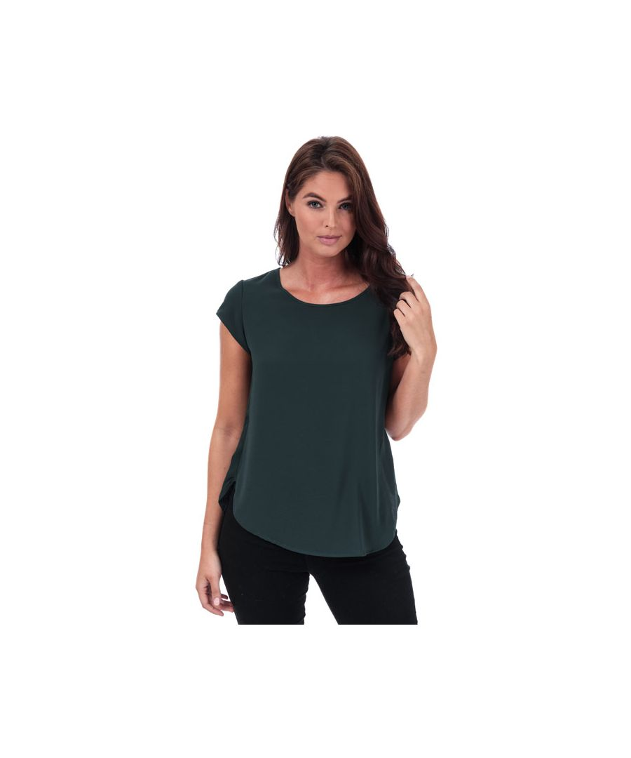 Image for Women's Only Vic Short Sleeve Top in Green