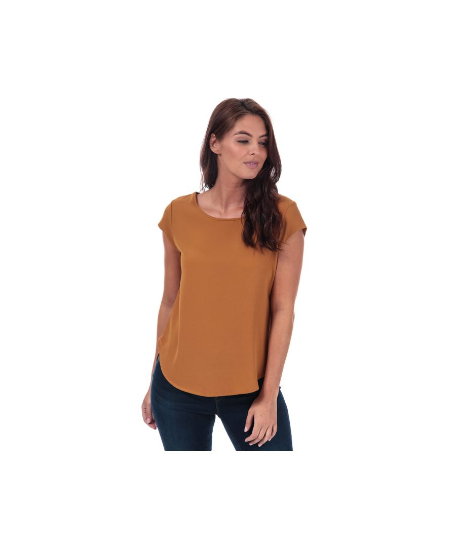 Image for Women's Only Vic Short Sleeve Top in Sand