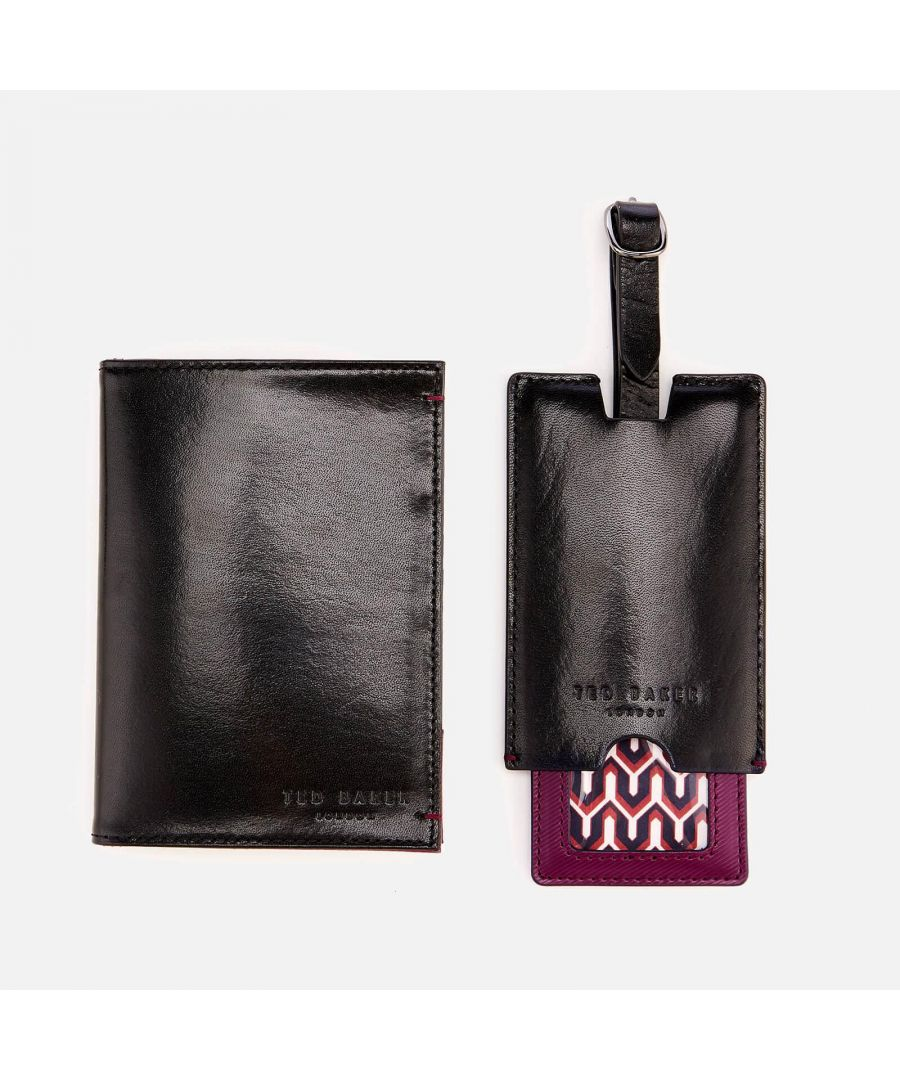 Image for Ted Baker Chuckle Passport And Luggage Gift Set, Black