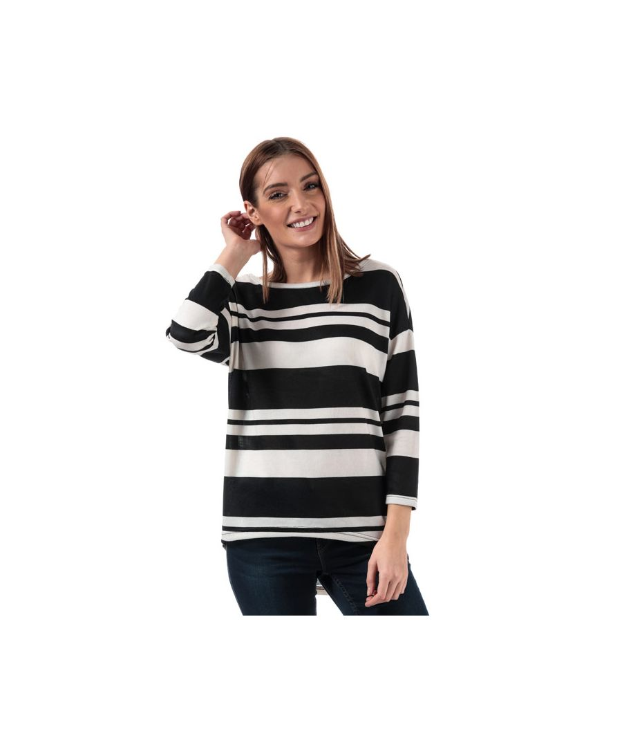 Image for Women's Only Elcos Stripe Jersey Top in Black