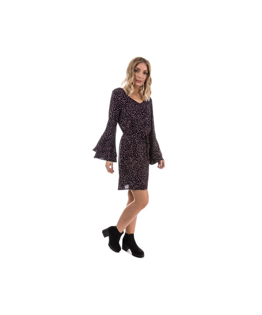 Image for Women's Only Anika Flounce Sleeve Dress in Black