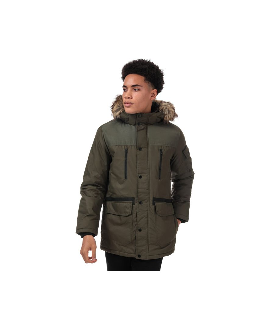 Image for Men's Jack Jones Globe Parka Jacket in Green