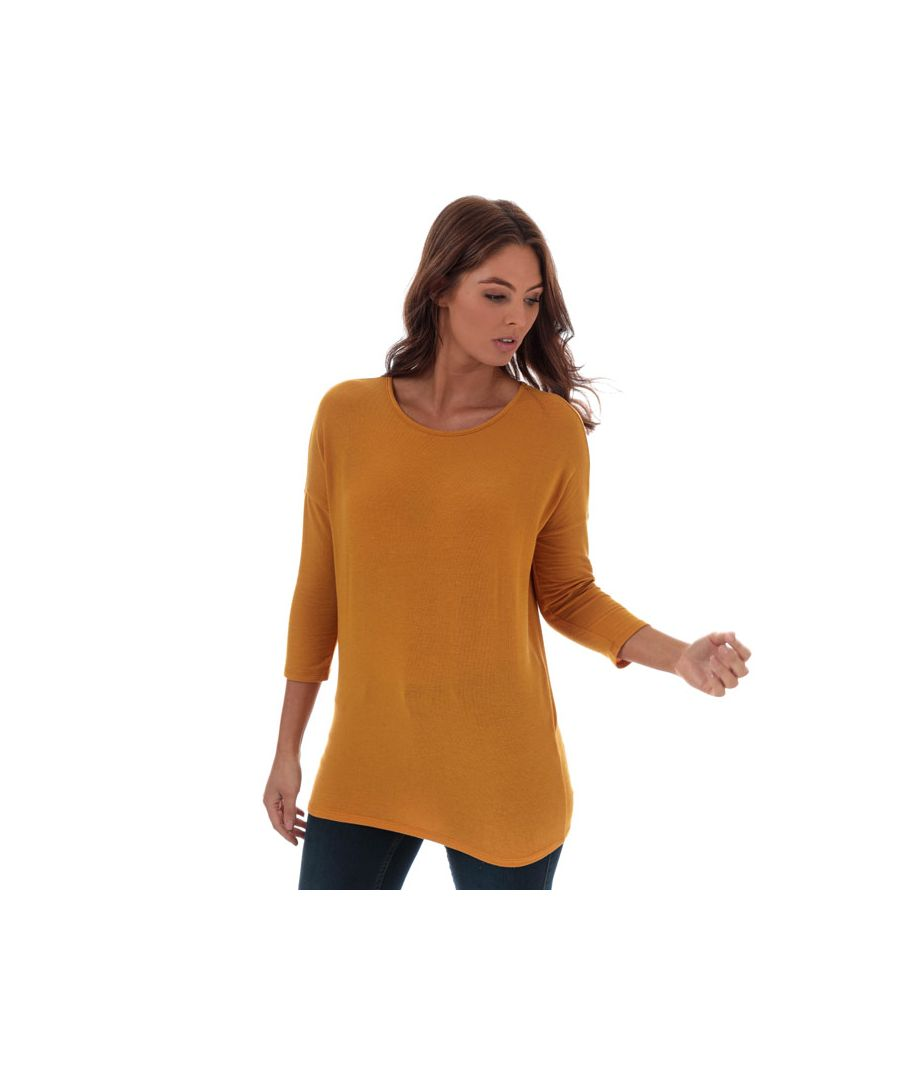 Image for Women's Only Glamour 3 Quarter Sleeve Jumper in Yellow