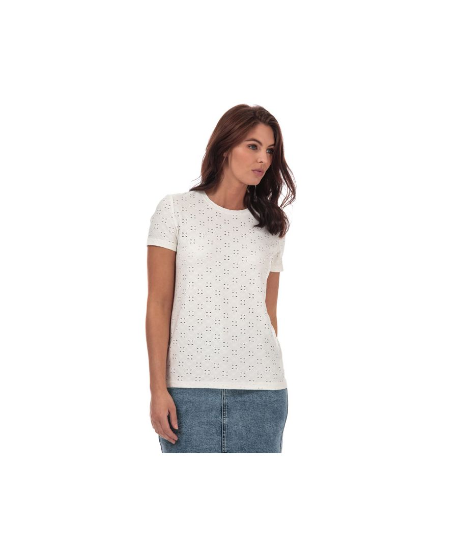 Image for Women's Jacqueline de Yong Cathinka T-Shirt in White
