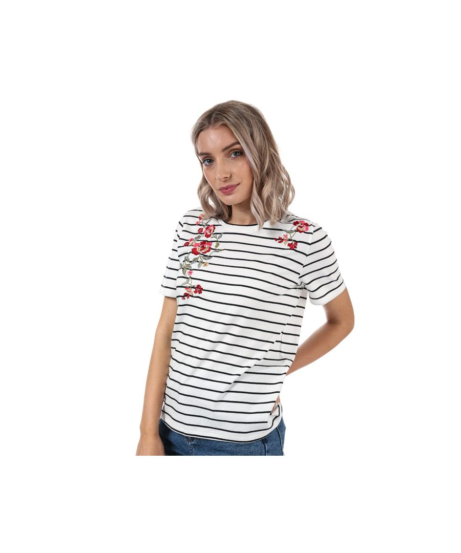 Image for Women's Only Mona Striped T-Shirt in White