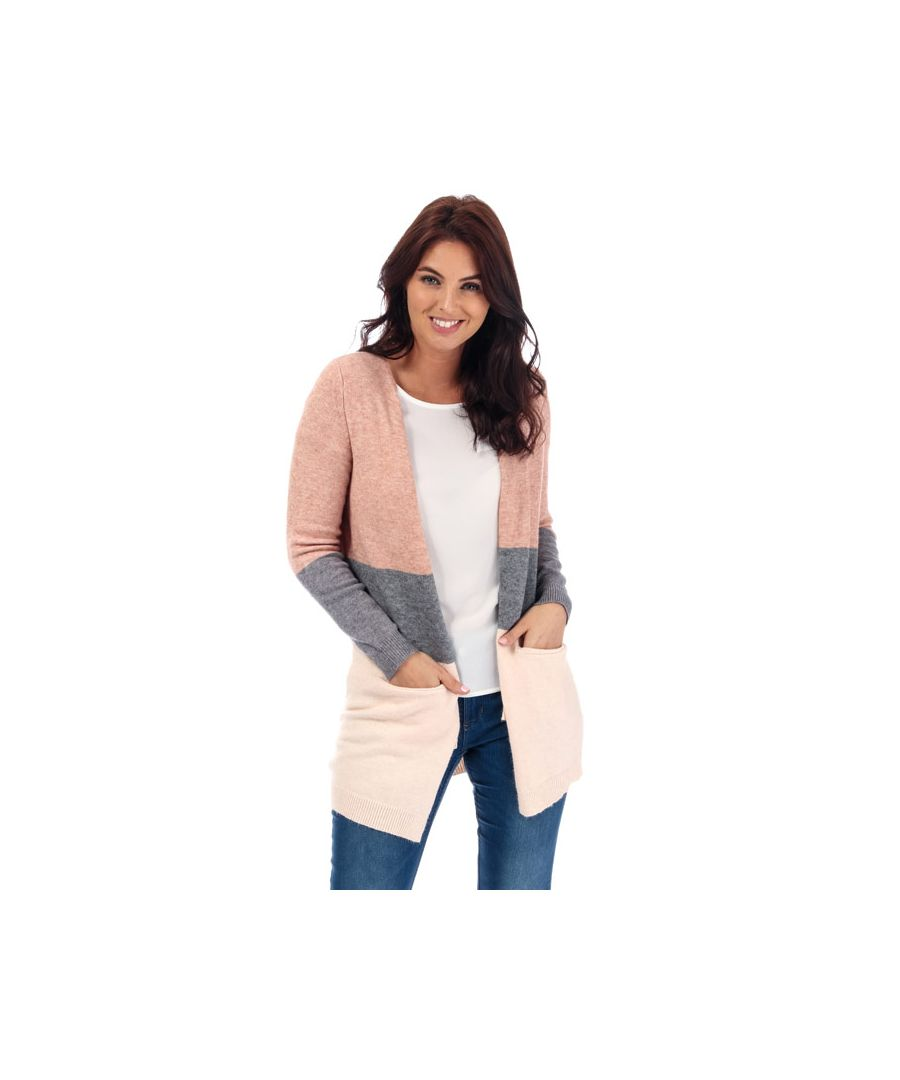 Image for Women's Only Queen Colourblock Cardigan in Rose