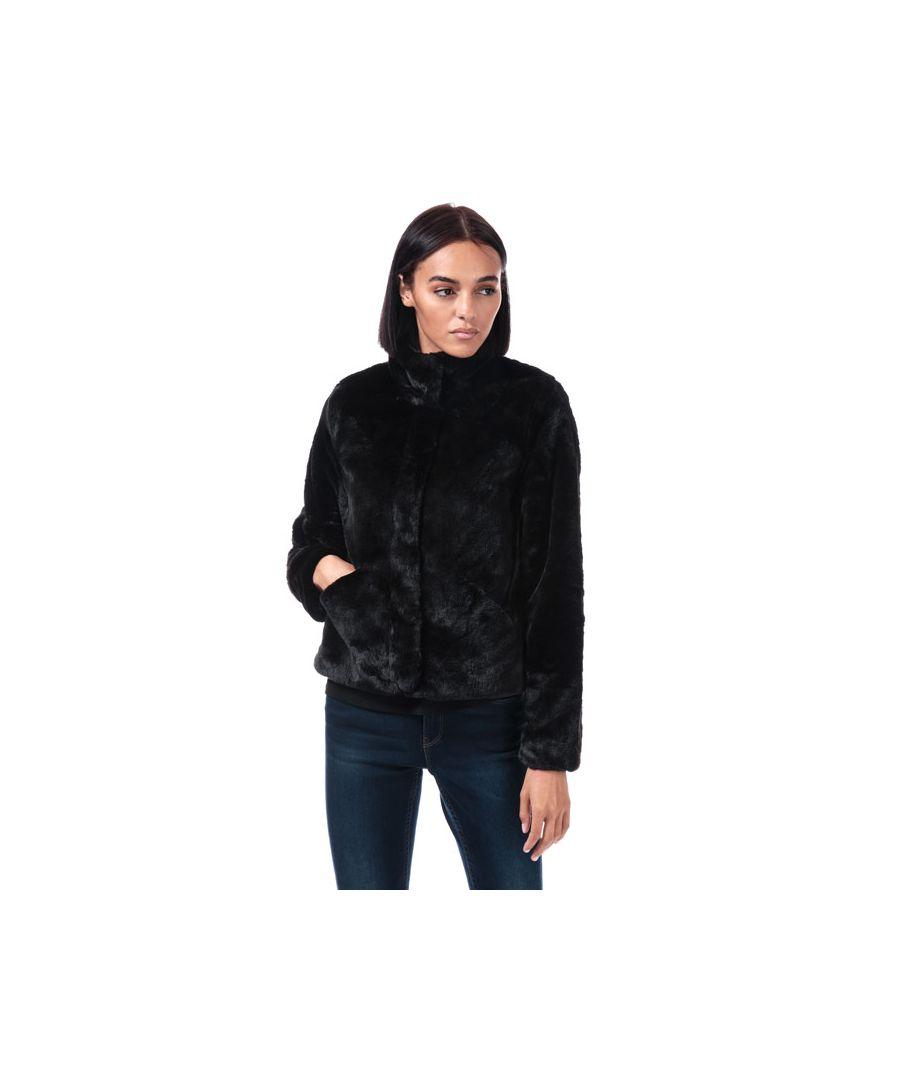 Image for Women's Only Vida Faux Fur Jacket in Black