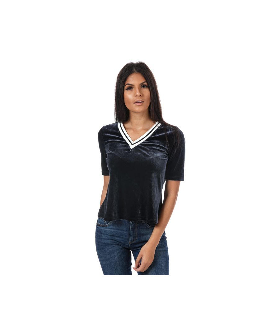 Image for Women's Only Veronica V-Neck T-Shirt in Navy