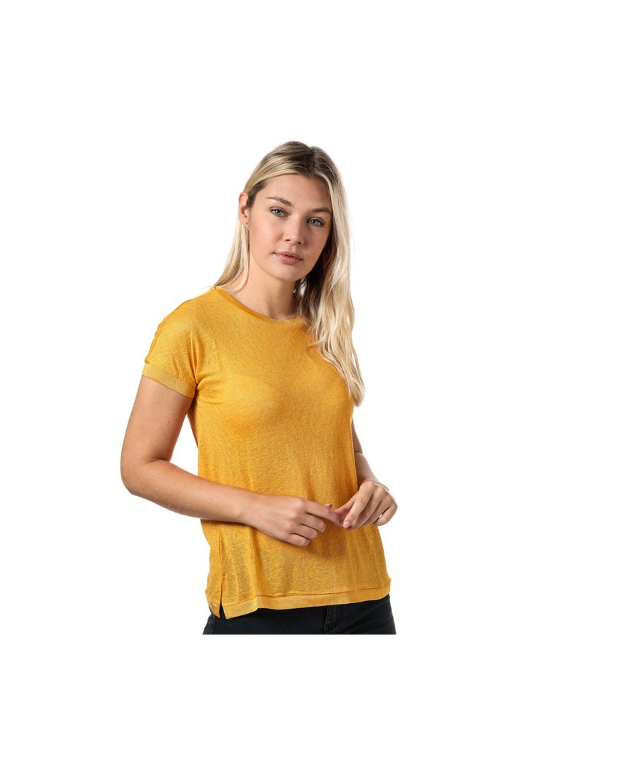 Image for Women's Only Riley Jersey T-Shirt in Yellow