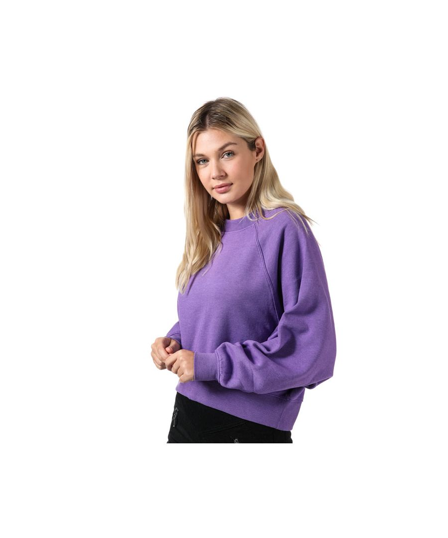 Image for Women's Only Stella Batwing Crew Sweatshirt in Violet