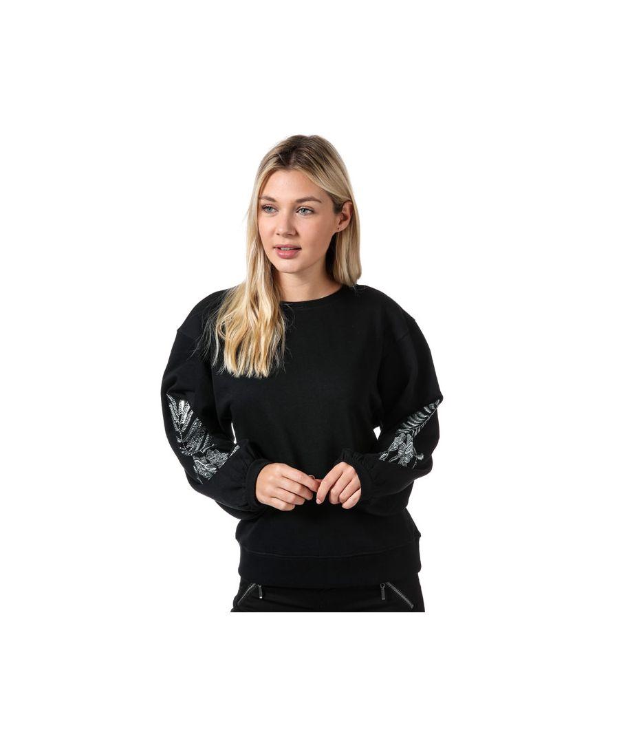 Image for Women's Only Nadia Balloon Sleeve Crew Sweatshirt in Black