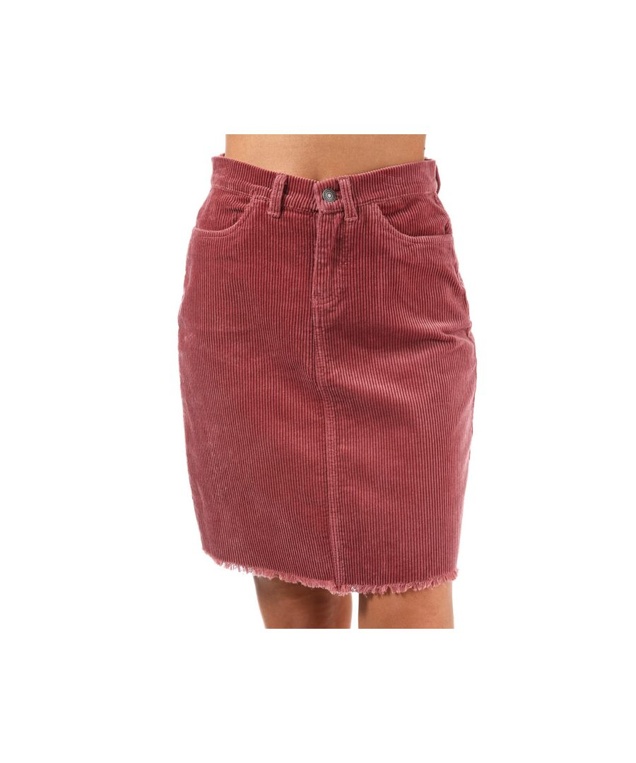 Image for Women's Only Morris Cord Skirt in Rust