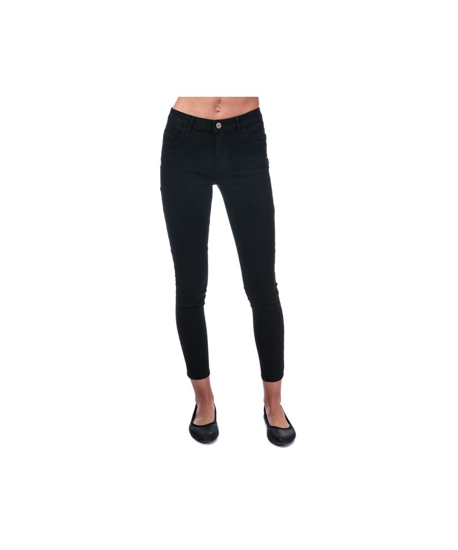 Image for Women's Only Daisy Push Up Skinny Ankle Jeans in Black