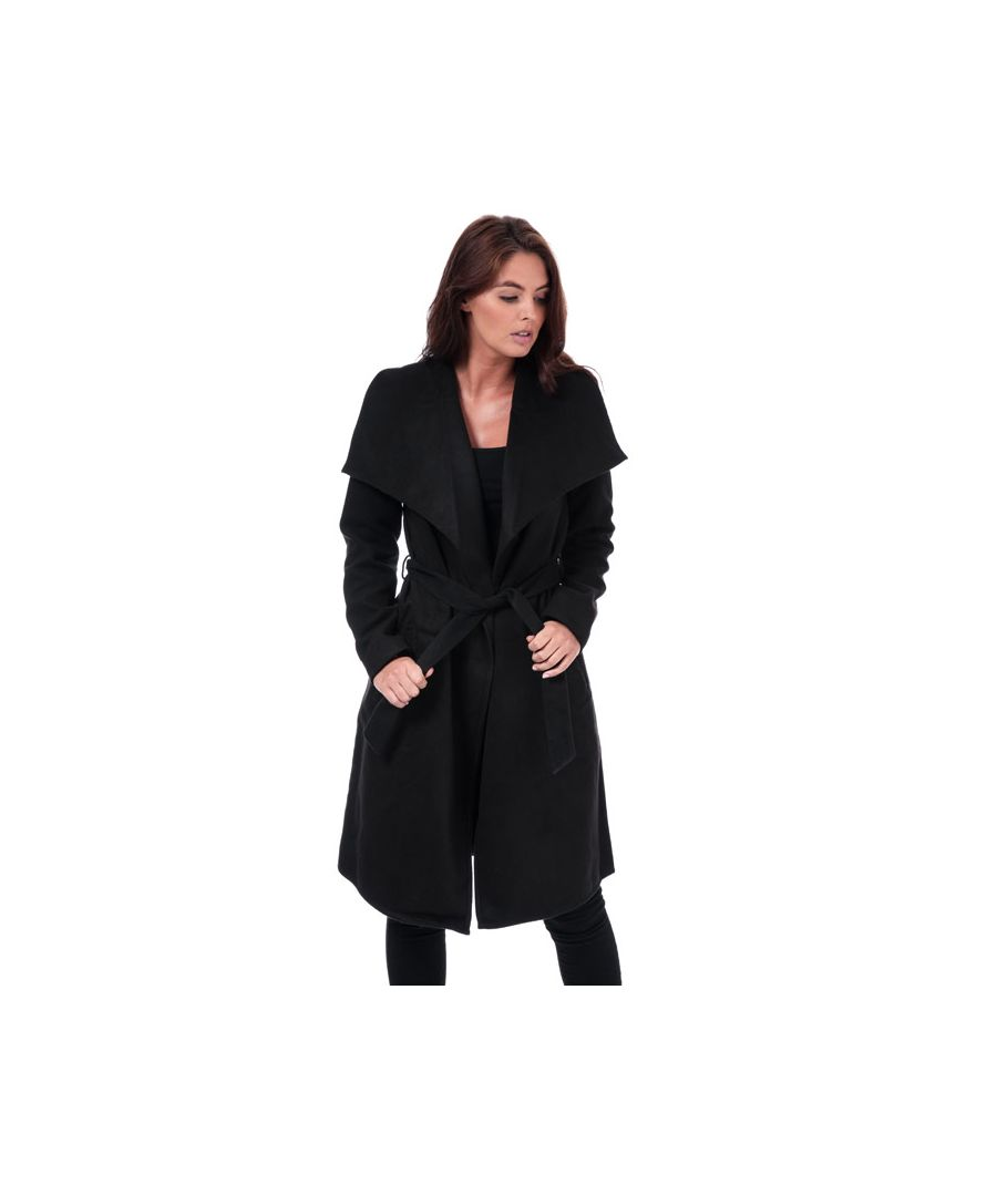Image for Women's Only Phoebe Drapey Coat in Black