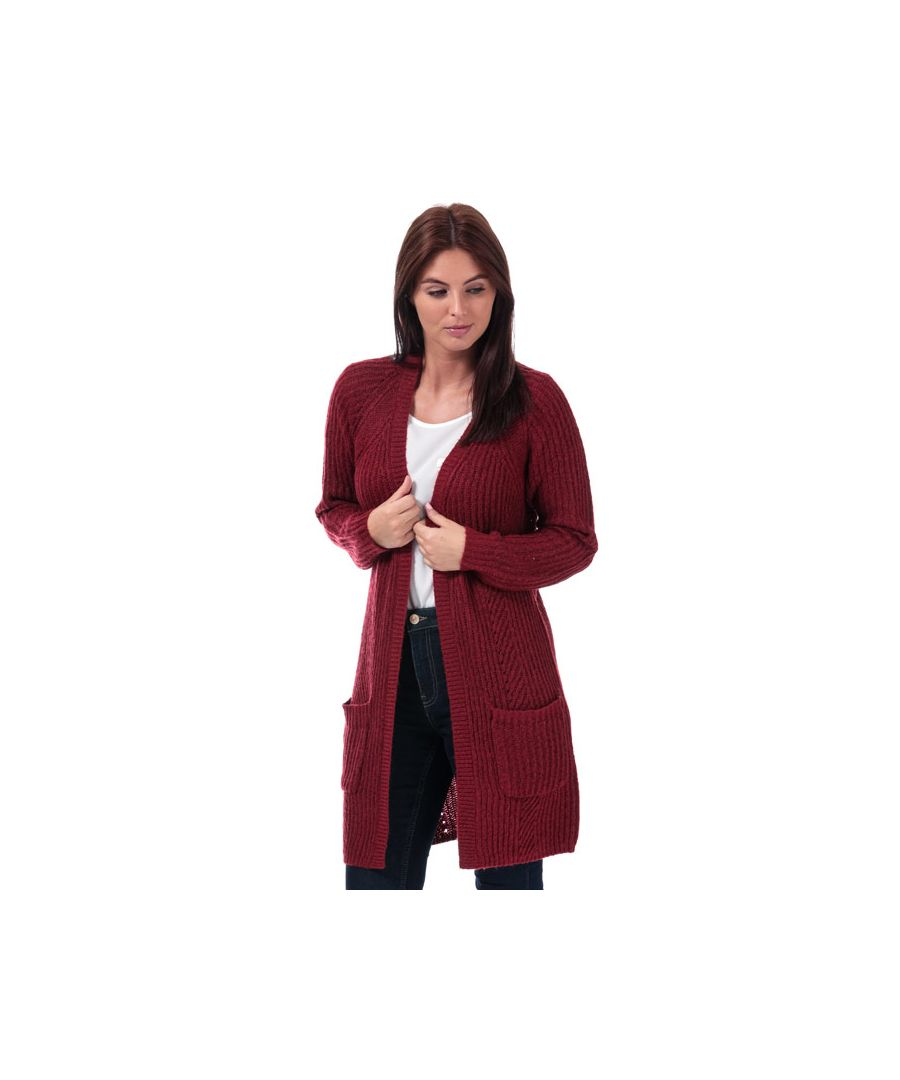 Image for Women's Only Bernice Open Cardigan in wine